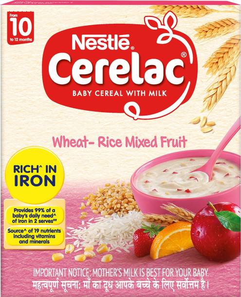 Nestle Cerelac Wheat - Rice Mixed Fruit Cereal