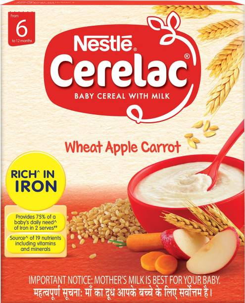 Nestle Cerelac Wheat Apple Carrot Cereal