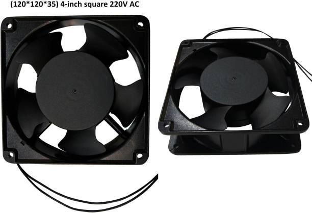 DHRUV-PRO 2pic 220V AC 120*120*38mm 4-inch square Exhaust brushless Fan Metal Body Cooler