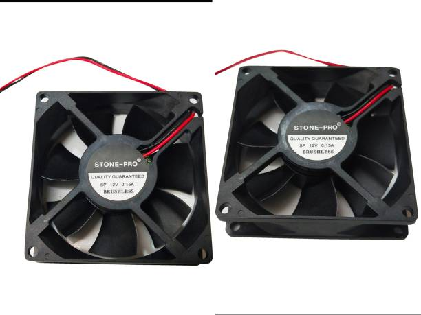 STONE-PRO 2pic 12V DC Fan 80X80X25MM Cabinet 3-Inch Square Cooling fan Cooler