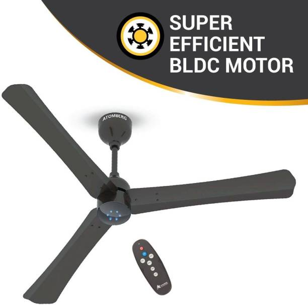 Atomberg Renesa+ 1200 mm BLDC Motor with Remote 3 Blade Ceiling Fan
