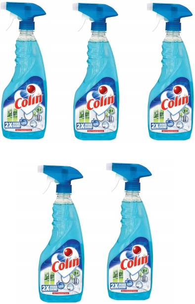 colin Glass Cleaner 2X More Shine with Shine Boosters - 500 ml (Pack of 5)