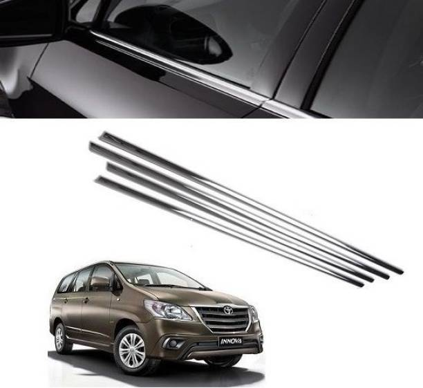 Worldlookenterprises CAR CHROME WINDOW LOWER GARNISH FOR INNOVA(ALL MODELS) Chrome Toyota Innova Side Garnish