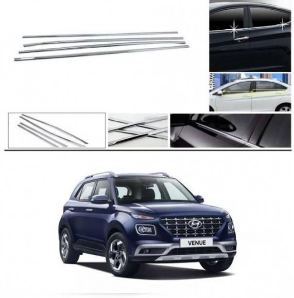Worldlookenterprises CAR CHROME WINDOW LOWER GARNISH-VENUE(ALL MODELS) Chrome Hyundai NA Side Garnish