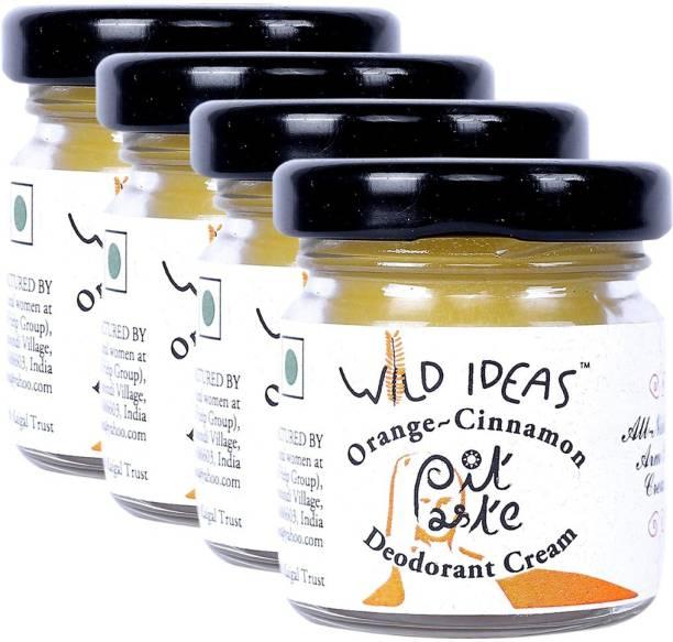 Wild Ideas Pit Paste Deodorant Cream: Orange - Cinnamon Deodorant Cream  -  For Men & Women