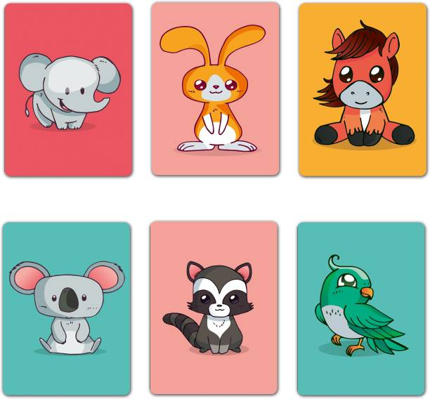 VPRINT QUALITY magnet animals Fridge Magnet Pack of 6