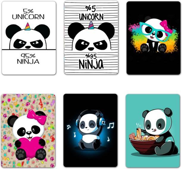 VPRINT QUALITY panda magnet Fridge Magnet Pack of 6
