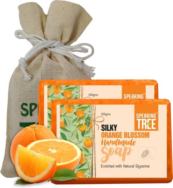 Speaking tree Silky Orange Blossom Handmade Soap - 100gms each pack of 2