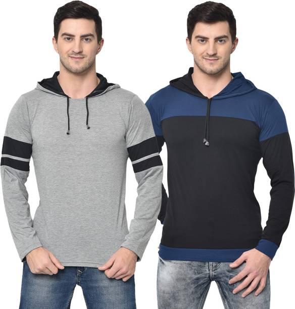 3SIX5 Solid Men Round Neck Multicolor T-Shirt