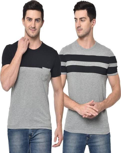 3SIX5 Printed Men Round Neck Multicolor T-Shirt