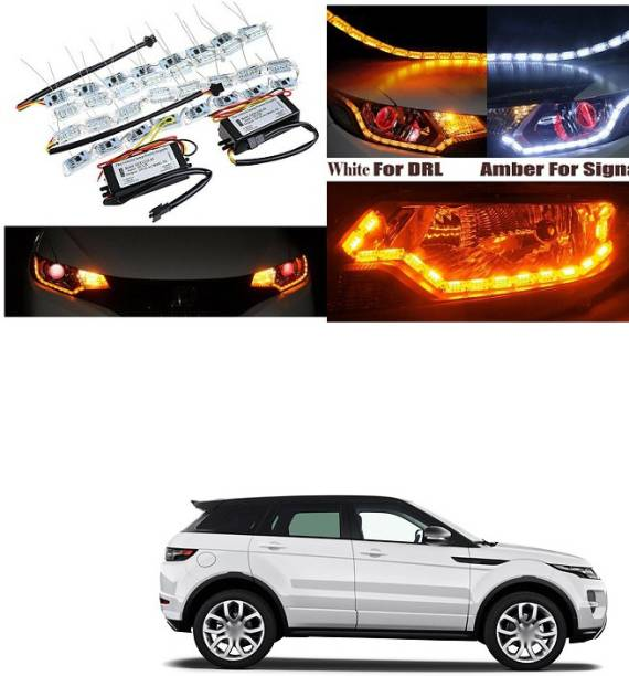 XZRTZ Daytime 16 LED Crystal Sequential DRL Running White with Yellow Turn Signal Light C37 Car Fancy Lights