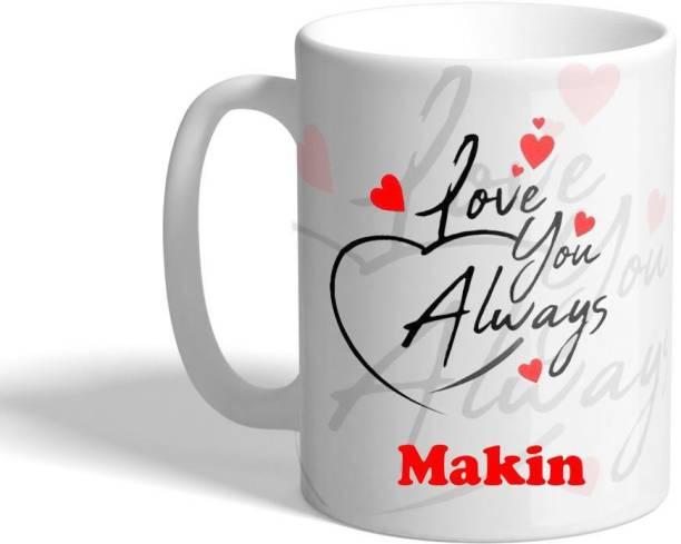 Beautum LOVE YOU ALWAYS Makin (350)ml WHITE MUG Ceramic Coffee Mug
