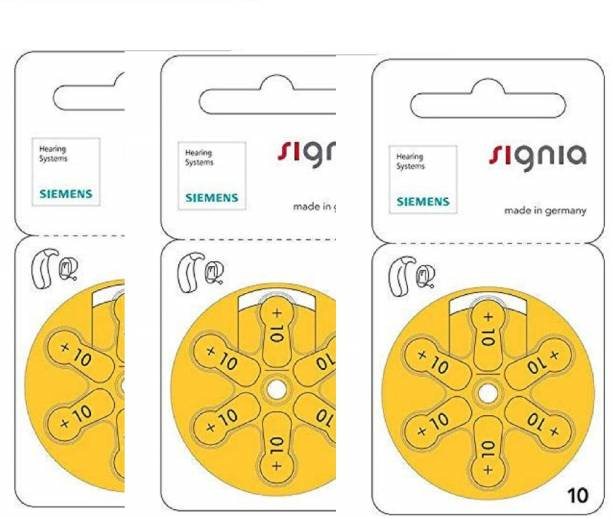 Signia Hearing Aid Battery Size 10, Pack Of 18 Batteries HearingAidBattery-10no-18Battery Stethoscope Case