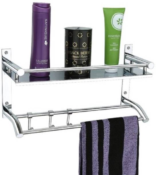 GLOXY BrackeBV--3202 Silver White Towel Holder