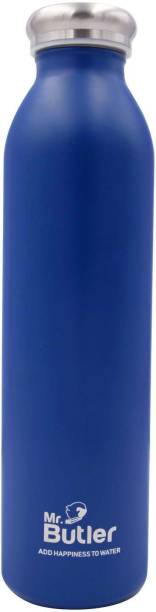 Mr. Butler Thermosteel Bottle 600ml Ocean, Vaccum Insulated, Cold/Hot - Blue 600 ml Flask