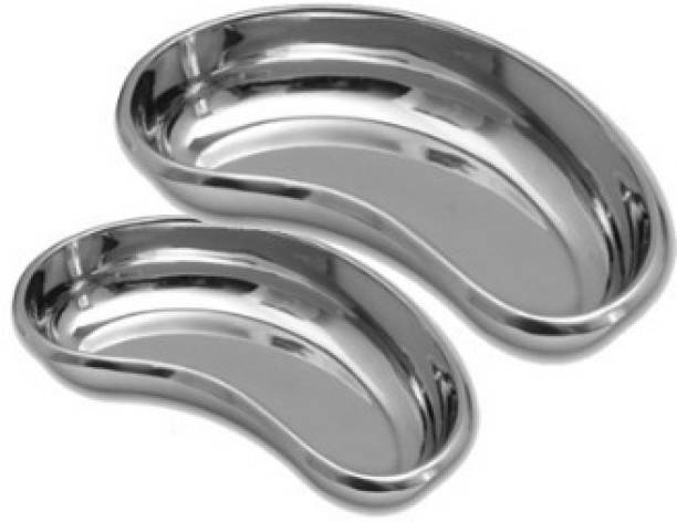 """Agarwals ™ Kidney Tray 10"""" & 12"""" (Set Of 2) Reusable Medical Tray"""