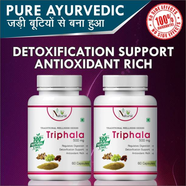 Natural Triphala For Antioxidant Rich Capsules Pack of 2