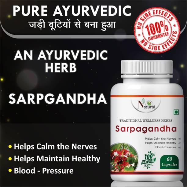 Natural Sarpgandha Helps Calm the Nerves & Maintain healthy 100% Ayurvedic