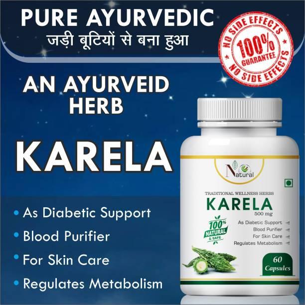Natural Karela For Regulates Metabolism Capsules Pack of 1