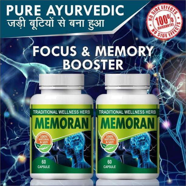 Natural Memoran For Improve Memory concentration Capsule 100% Ayurveidc