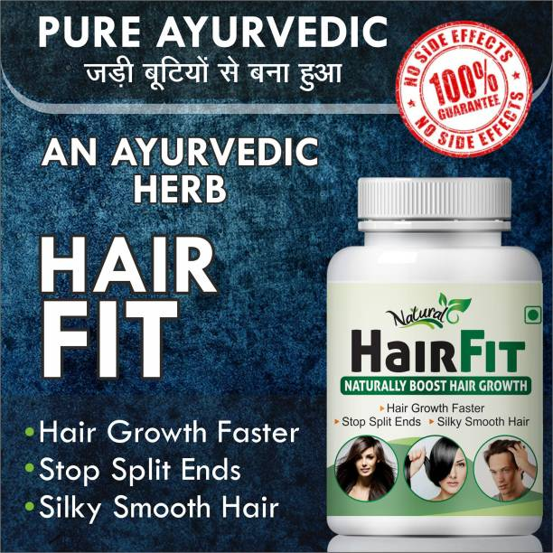 Natural Hair Fit For Helps In Re-Growth Hair Capsules 100% Ayurvedic