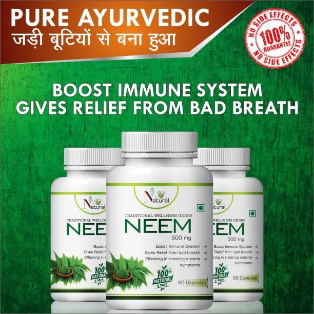 Natural Neem For Increase Blood Circulation Capsules 100% Ayurvedic