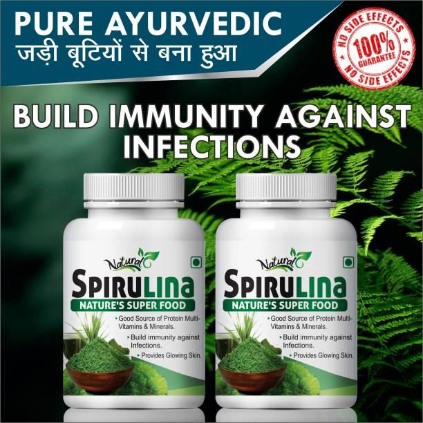 Natural Spirulina Herbal Capsule For Enhance overall health System 100% Ayurvedic