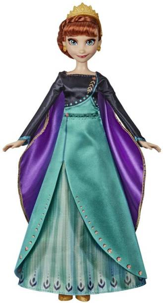 """Disney Frozen 2 Inspired Musical Adventure Anna Singing Doll, Sings """"Some Things Never Change"""", Anna Toy for Kids"""