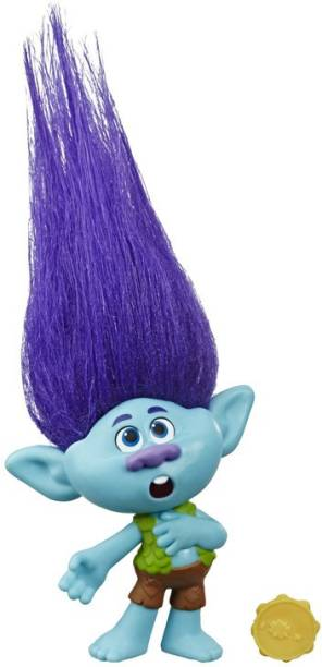 Trolls World Tour Movie Inspired Branch, Doll Figure with Tambourine Accessory, Toy