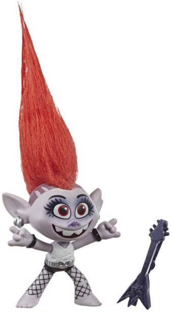 Trolls World Tour Movie Inspired Barb, Doll Figure with Guitar Accessory, Toy