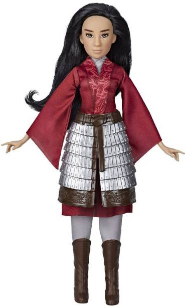 DISNEY PRINCESS Movie Mulan Inspired Fashion Doll with Skirt Armor, Shoes, Pants, Top, Toy for Kids and Collectors