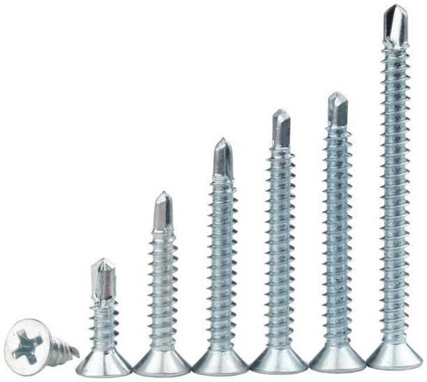 RPI SHOP Carbon Steel Flat Head Self-drilling Screw