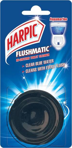 Harpic Flushmatic Aquamarine Block Toilet Cleaner