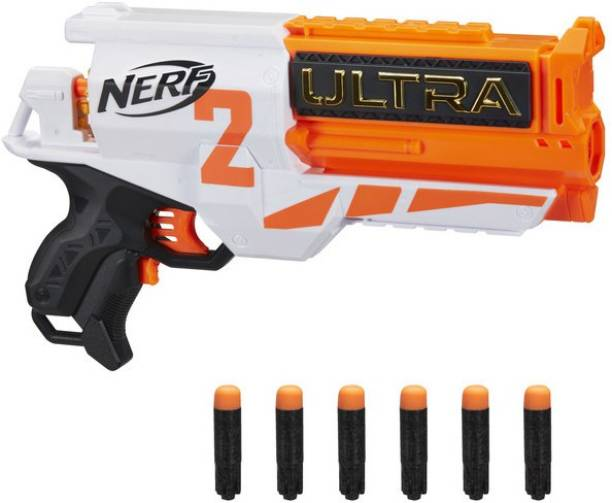 Nerf Ultra Two Motorized Blaster, Fast-Back Reloading, Includes 6 Ultra Darts Guns & Darts