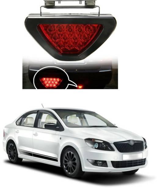 PECUNIA LED Car Blinking Brake Light Triangle F1 Style Rear Tail Brake Lamp 12V Universal Fit X204 Car Reflector Light