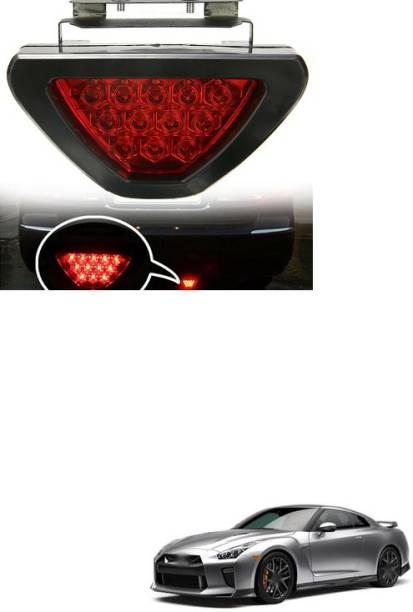 PECUNIA LED Car Blinking Brake Light Triangle F1 Style Rear Tail Brake Lamp 12V Universal Fit X181 Car Reflector Light