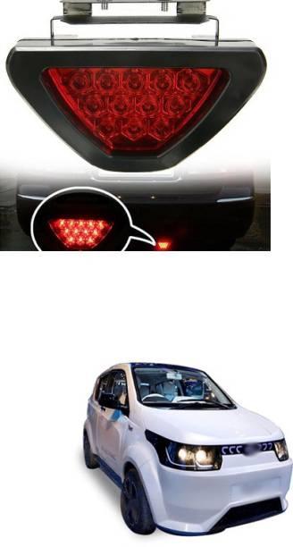 PECUNIA LED Car Blinking Brake Light Triangle F1 Style Rear Tail Brake Lamp 12V (Red) X114 Car Reflector Light
