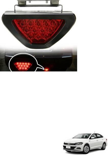 PECUNIA LED Car Blinking Brake Light Triangle F1 Style Rear Tail Brake Lamp 12V (Red) X252 Car Reflector Light