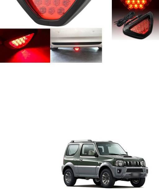 XZRTZ LED Car Blinking Brake Light Triangle F1 Style Rear Tail Brake Lamp 12V (Red) KX136 Car Reflector Light
