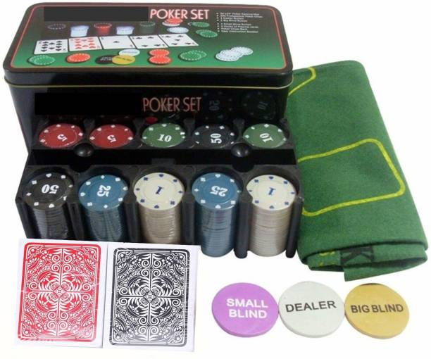 HOW (HOUSE OF WISHES) Poker-Set 200 Chips (TIN CASE SAFE PACK)