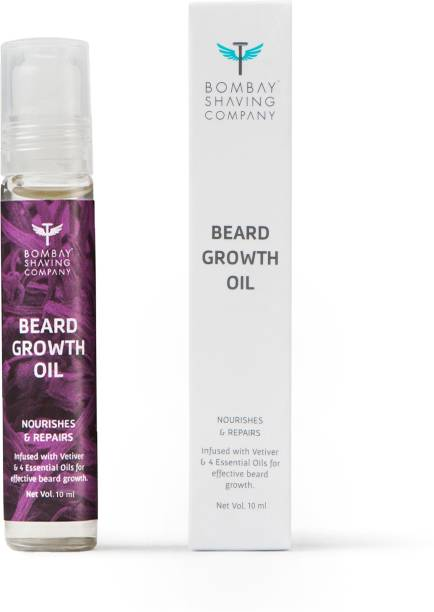 BOMBAY SHAVING COMPANY Beard Growth Oil Roll On For On The Go Mess Free Application- 10 ml Hair Oil