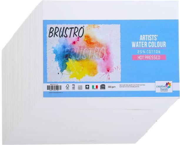 BRuSTRO Hot pressed Small loose 10cm/14cm 300 gsm Watercolor Paper