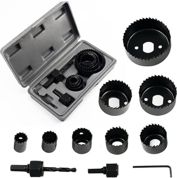 """tool trust Hole saw set 11 pieces 3/4""""-21/2"""" hole saw kit hex key install plate for wood,PVC board, plastic plate drilling Rotary Bit Set"""