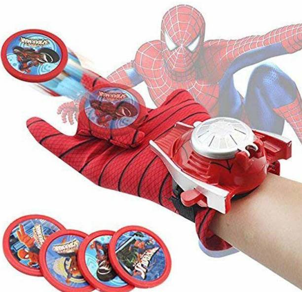 CADDLE & TOES Ultimate Spiderman Gloves with Disc launcher for kids