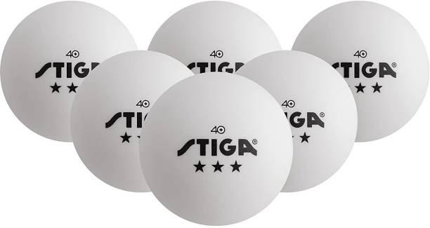 Stiga 3-Star Table Tennis Balls, (6-Pack) -- White Table Tennis Ball