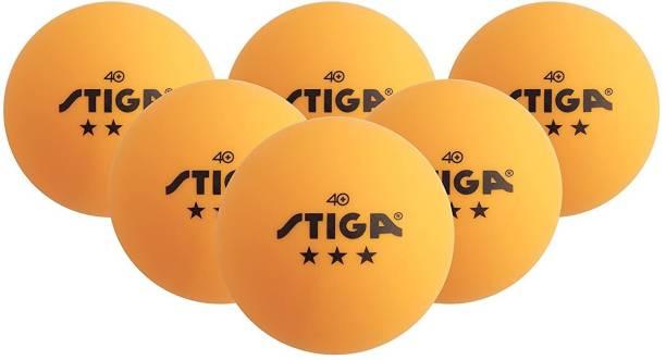 Stiga 3-Star Table Tennis Balls, (6-Pack) -- Orange - 40Mm Two 6 Packs Table Tennis Ball