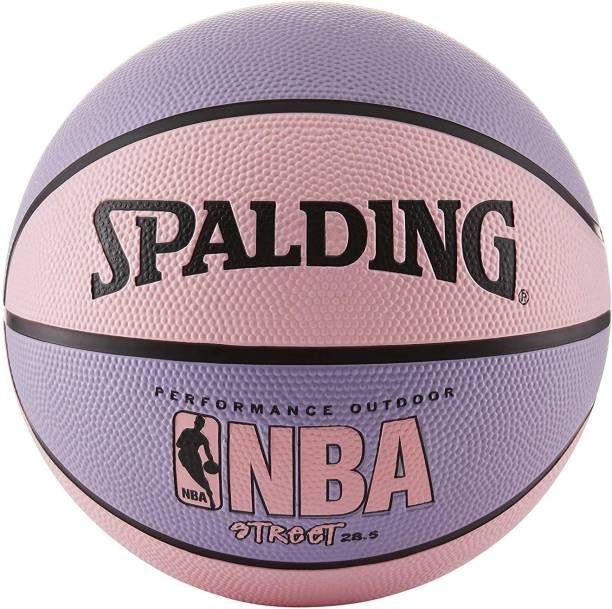 "SPALDING Nba Street Basketball - Pink & Purple - Intermediate Size 6 (28.5"") Basketball - Size: 6"