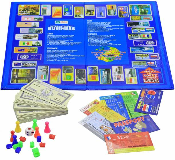 Kids creation International Business Game with Folding Board Game Set for Kids and Adults,Game for Time Pass Party & Fun Games Board Game