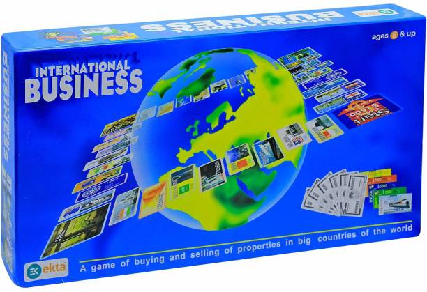 BVM GROUP International Business Game with Folding Board Game Set for Kids and Adults,Game for Time Pass Party & Fun Games Board Game (indoor Game) Money & Assets Games Board Game