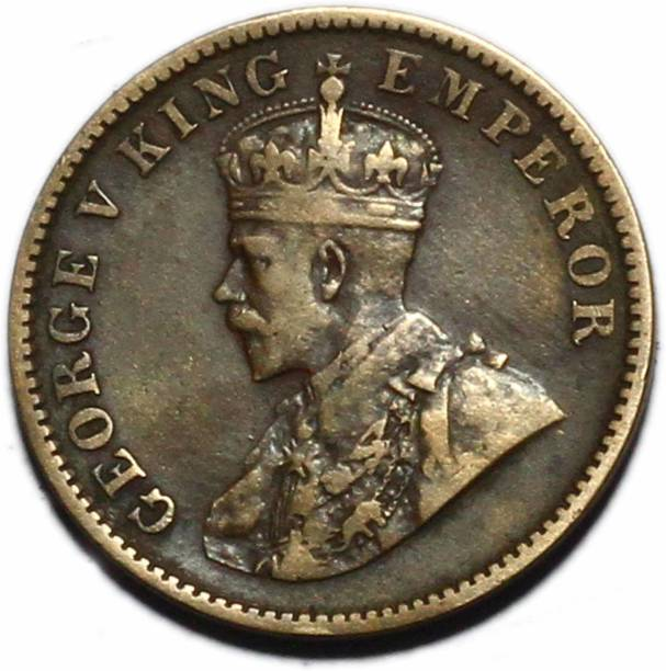 TRADITIONALSHOPPE BRITISH INDIA GEORGE V QUARTER ANNA - QUALITY COPPER COIN Medieval Coin Collection